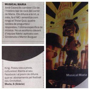 Jordi Cazes DJ del Musical Maria
